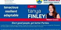 Image may contain: 1 person, text that says '/ElectTanyaFinley @ElectTanyaFinley bclib.ca/tanyafinley tanya.finley@bcliberals.com BC Liberals Restore Confidence. Rebuild Bc. tenacious resilient adaptable elect tanya FINLEY Nelson-Creston Elect good people, get better Parties. A political Party is simply group of people Change the people, and by extension, the Party is changed too. This election isn't about 2001, or even the 1990s. It's about the future, and that' where I'm focused. I'm asking you to vote for me because you know who am and what stand for. Ifwe're stuck looking backward, we can't move forward Let's move forward together. DANID GOLDGMT FINANCINL AGENT IBERAL PARTY'